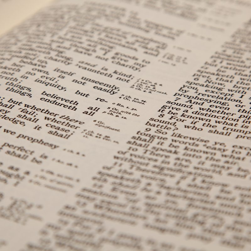 close up photo of a bible text